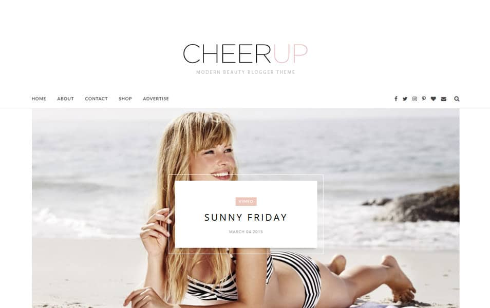 CheerUp Template Blogger Responsif