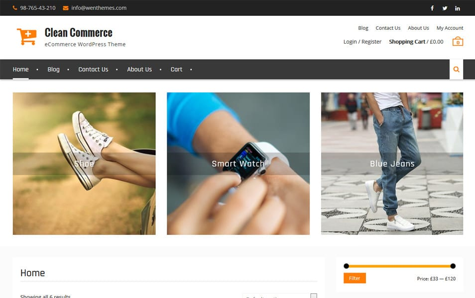 Clean Commerce Responsive WordPress Theme