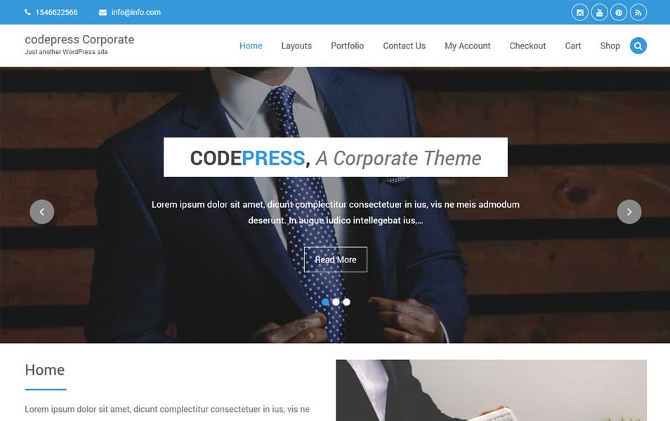 Codepress Corporate Responsive WordPress Theme
