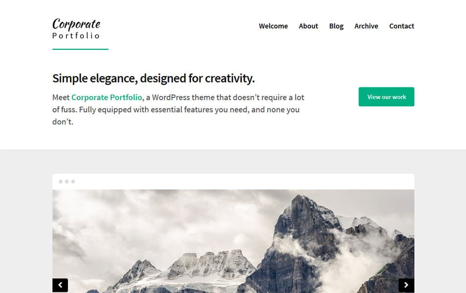Corporate Portfolio Responsive WordPress Theme