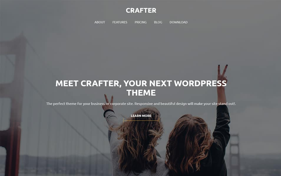 Crafter Responsive WordPress Theme