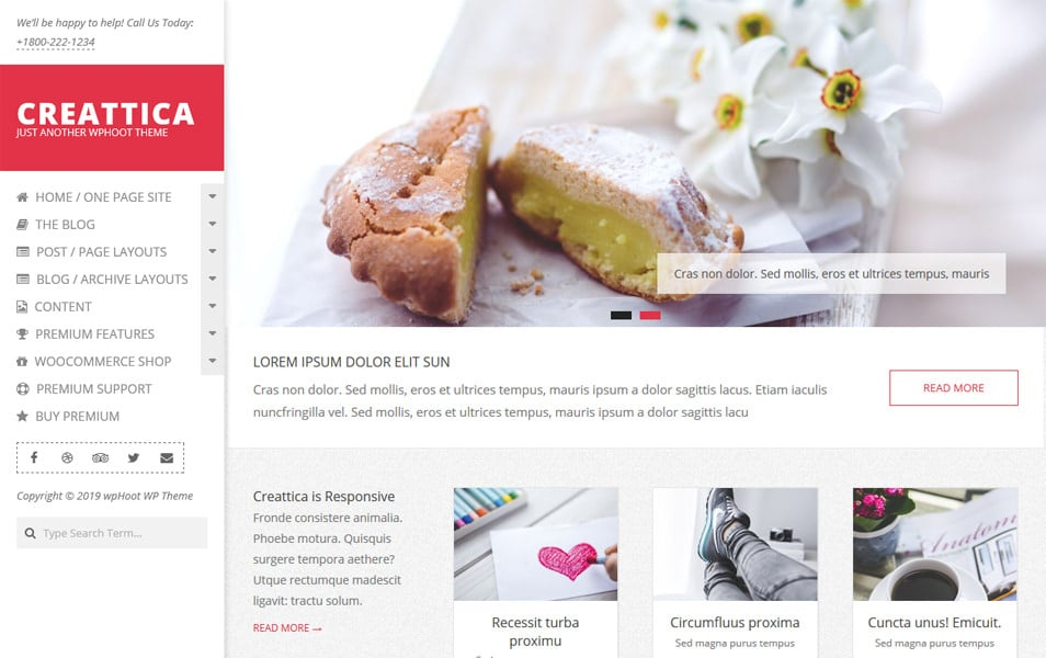 Creattica Responsive WordPress Theme