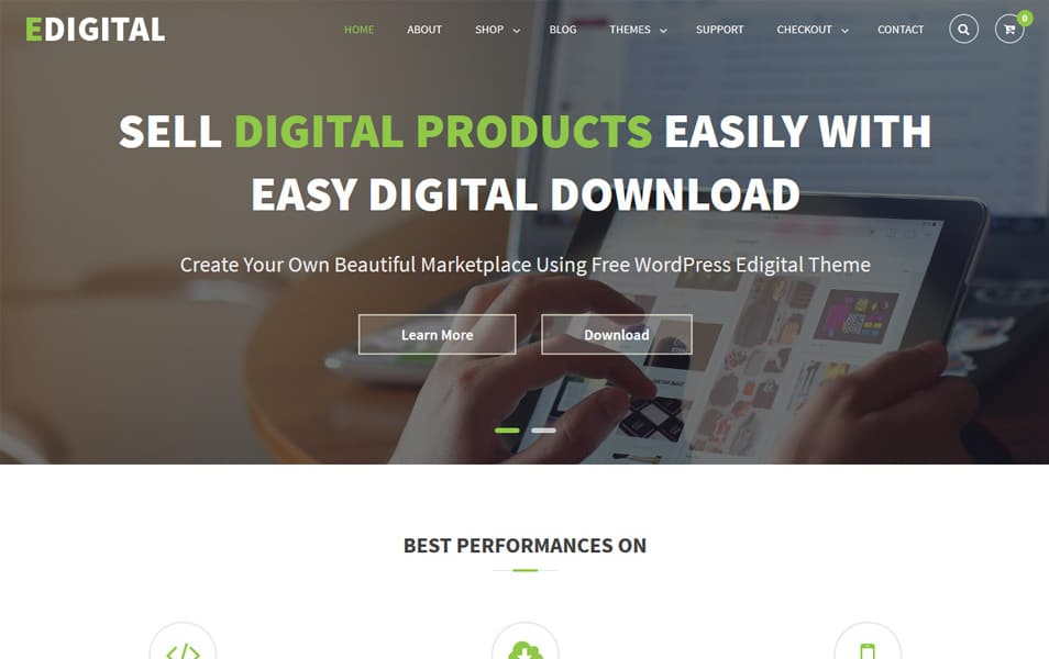 EDigital Responsive WordPress Theme