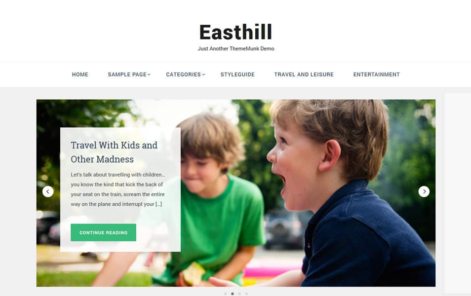 Easthill Responsive WordPress Theme