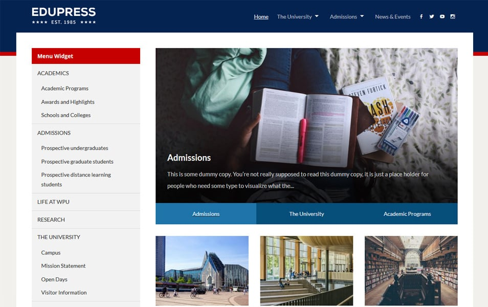 EduPress Responsive WordPress Theme