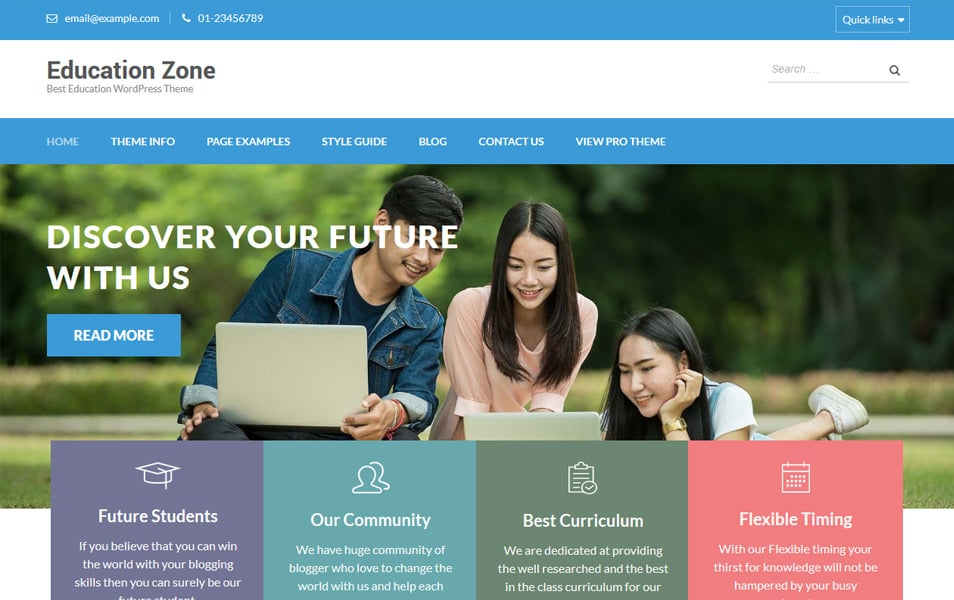 Education Zone Responsive WordPress Theme