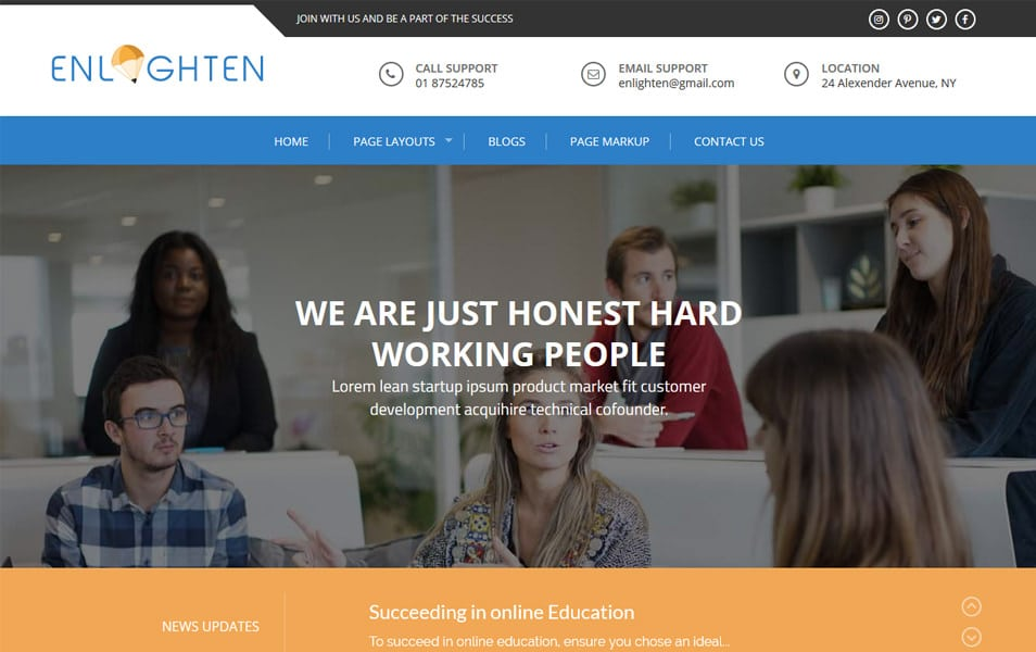 Enlighten Responsive WordPress Theme