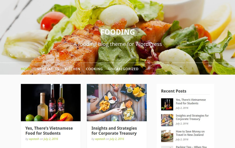 Fooding Responsive WordPress Theme