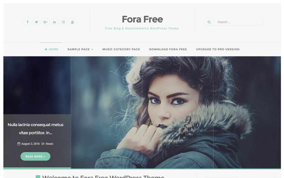 Fora Responsive WordPress Theme
