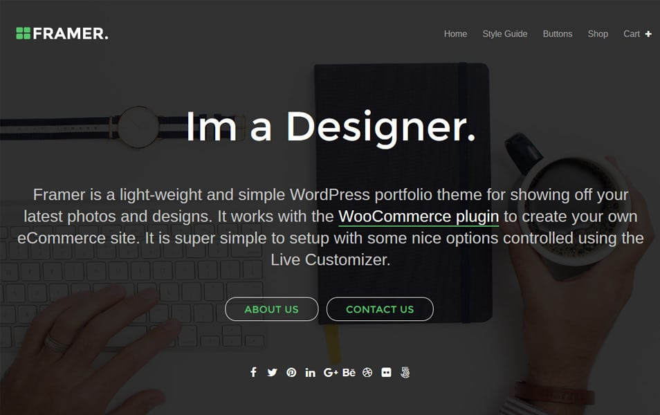 Framer Lite Responsive WordPress Theme