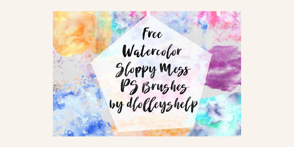 Free Watercolor Sloppy Mess Photoshop Brush