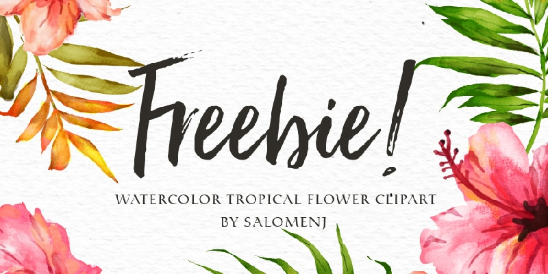 Free Watercolor Tropical Flower