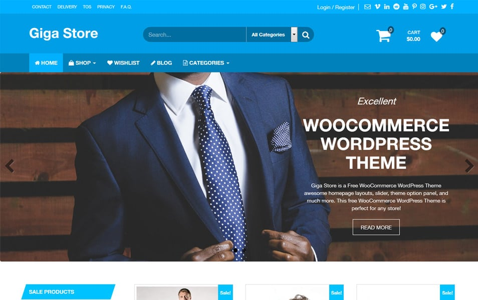 Giga Store Responsive WordPress Theme