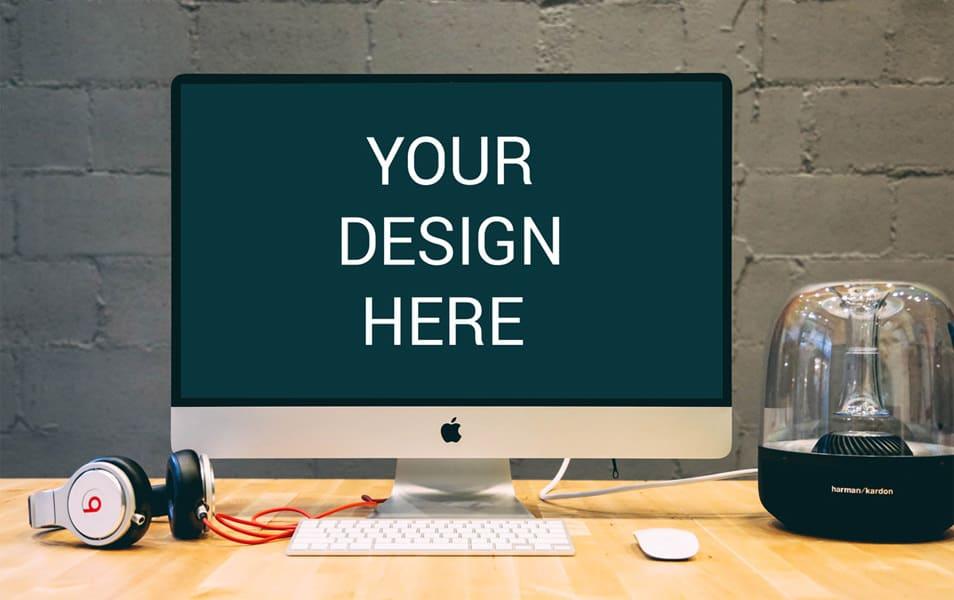 iMac on Desk Mockup