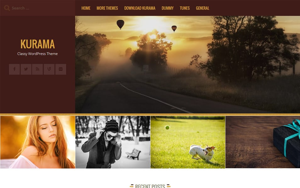 Kurama Responsive WordPress Theme