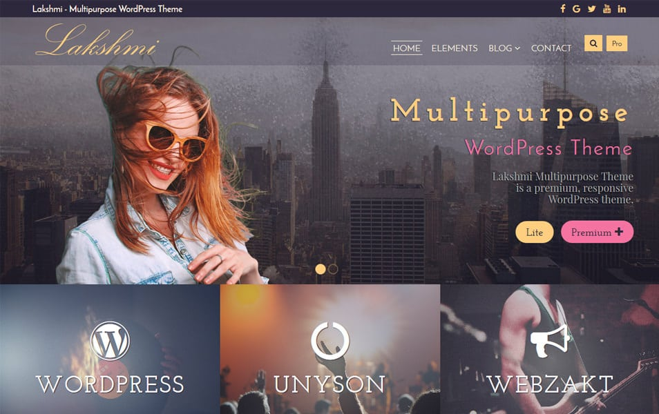 Lakshmi Lite Responsive WordPress Theme