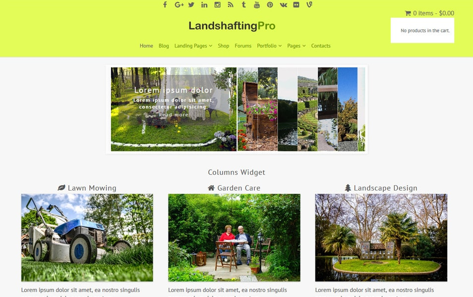 Landshafting Responsive WordPress Theme