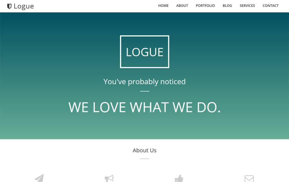 Logue One Page Template Blogger