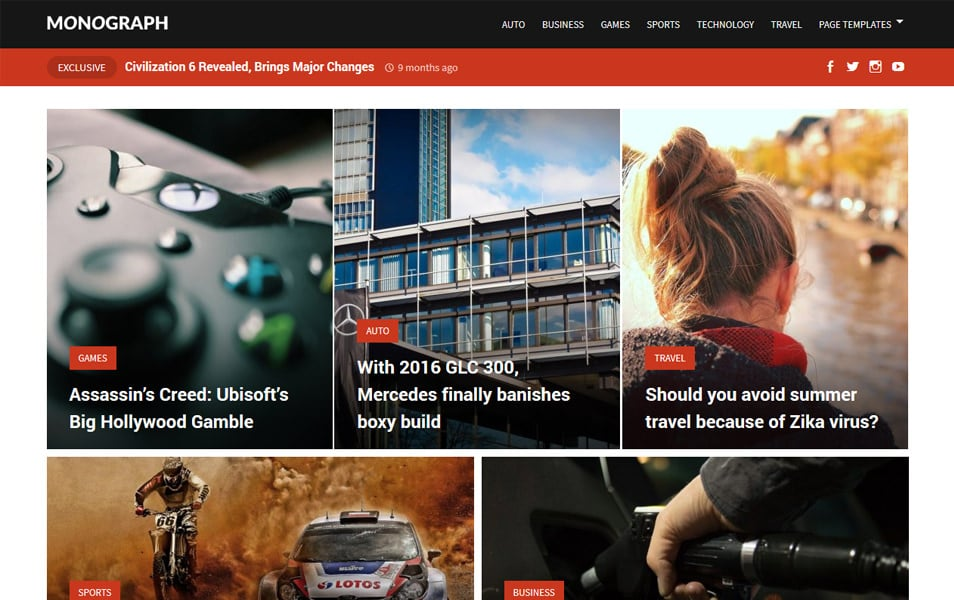 Monograph Responsive WordPress Theme