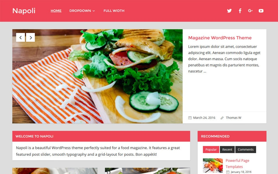 Napoli Responsive WordPress Theme