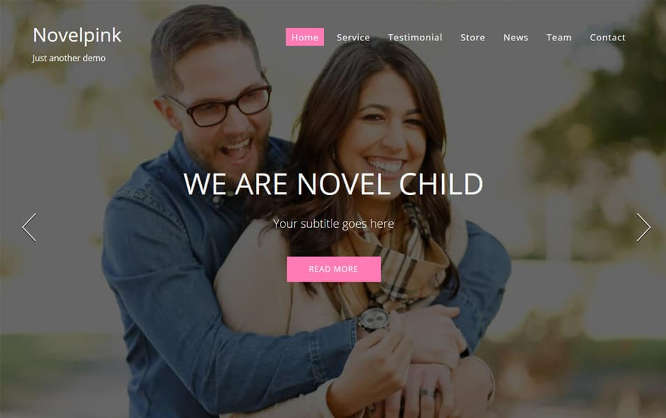 NovelPink Responsive WordPress Theme
