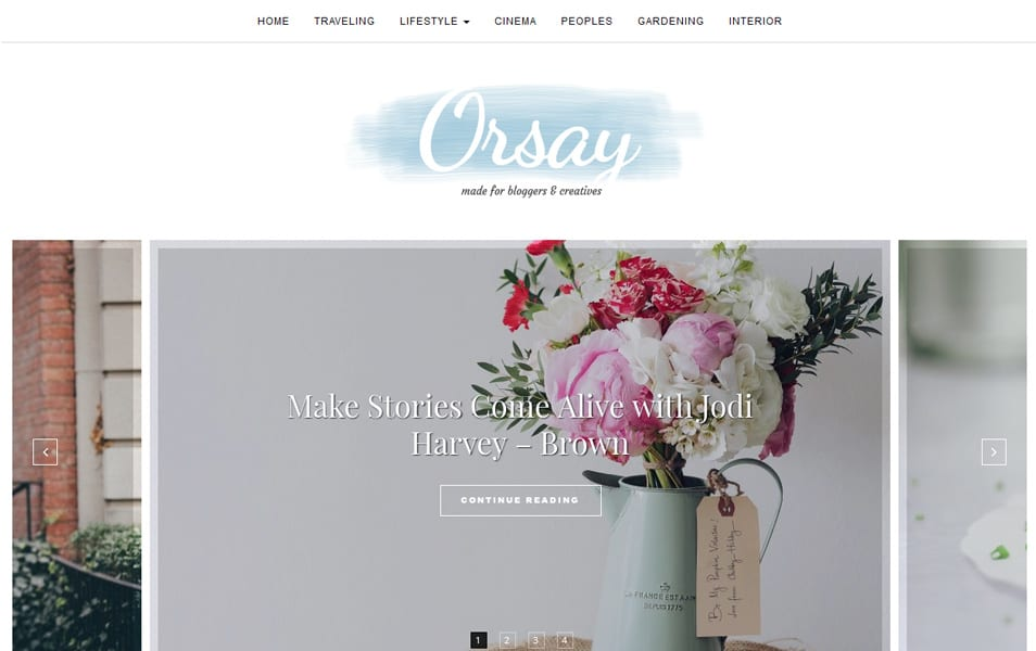 Orsay Responsive WordPress Theme