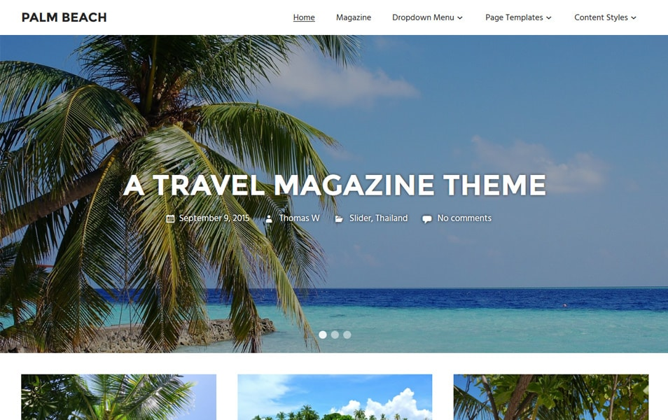 Palm Beach Responsive WordPress Theme
