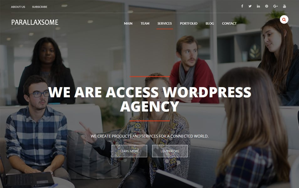 ParallaxSome Responsive WordPress Theme