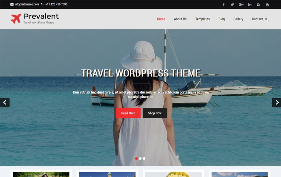 Prevalent Responsive WordPress Theme
