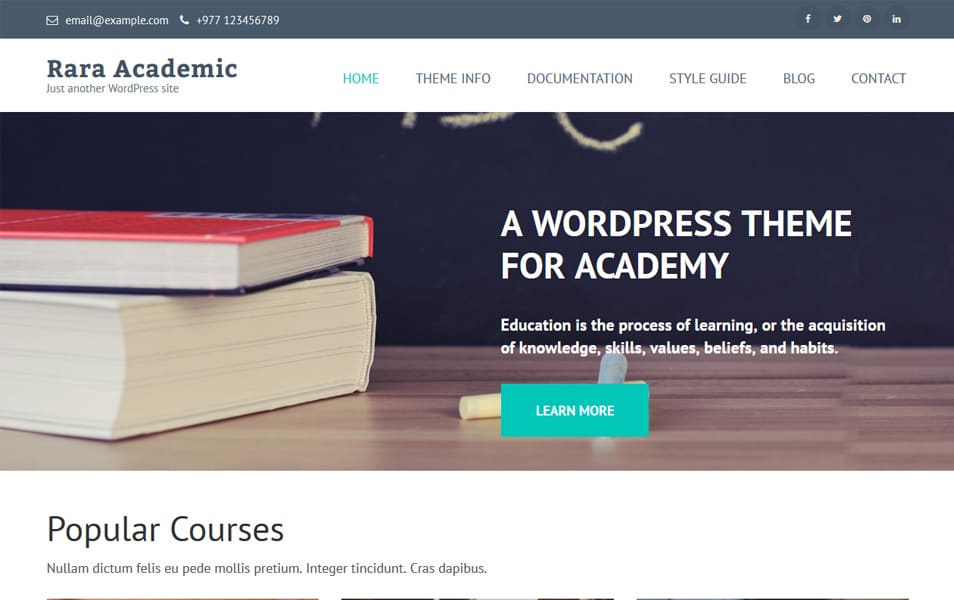 Rara Academic Responsive WordPress Theme