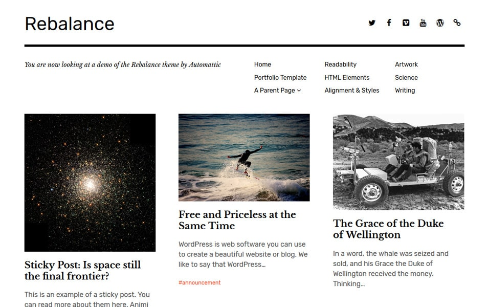 Rebalance Responsive WordPress Theme