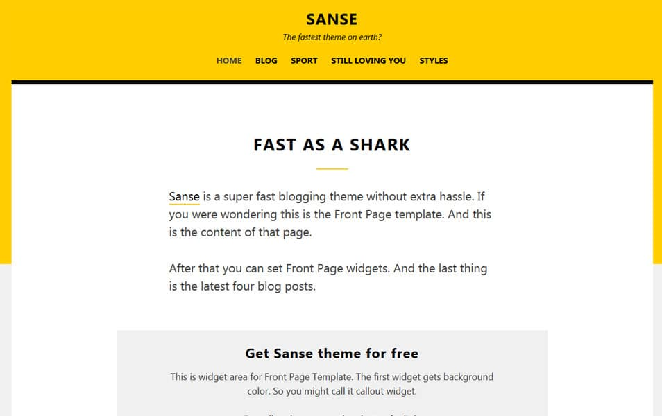 Sanse Responsive WordPress Theme