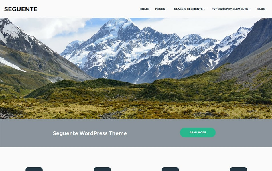Seguente Responsive WordPress Theme