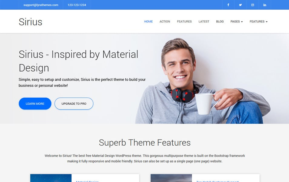 Sirius Lite Responsive WordPress Theme