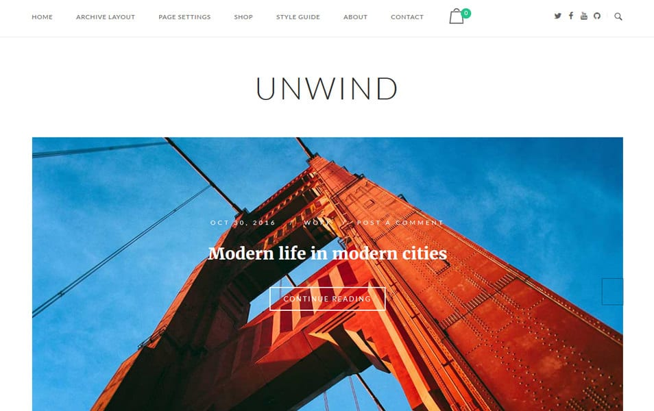 SiteOrigin Unwind Responsive WordPress Theme