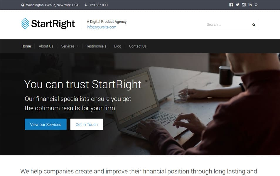 StartRight Responsive WordPress Theme