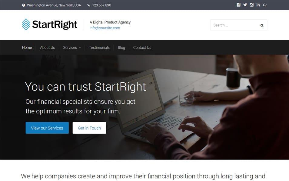 StartRight جهت پاسخگو تم وردپرس