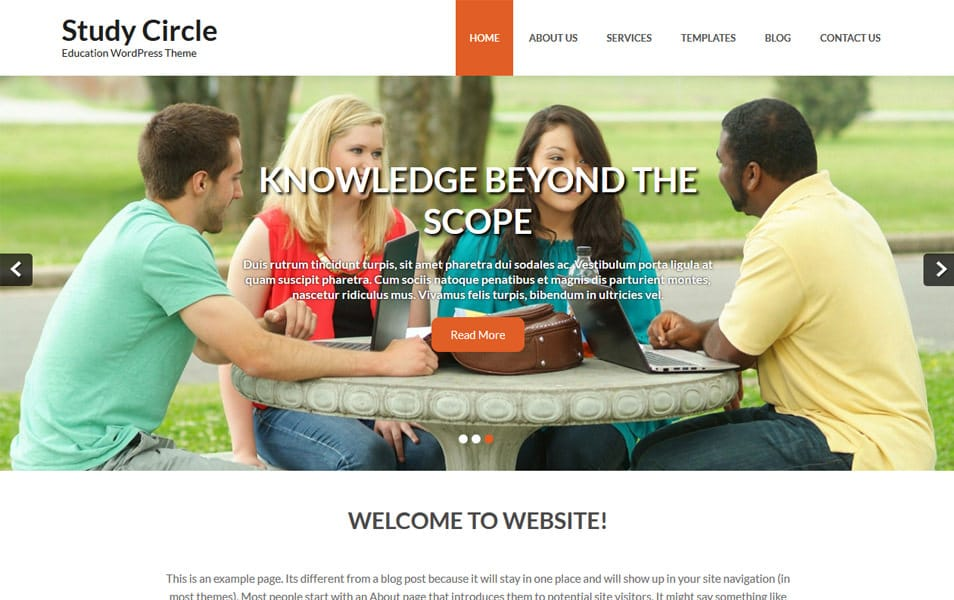 Study Circle Responsive WordPress Theme