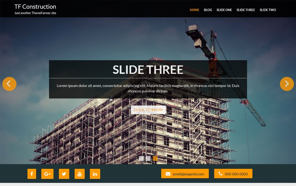 TF Construction Responsive WordPress Theme