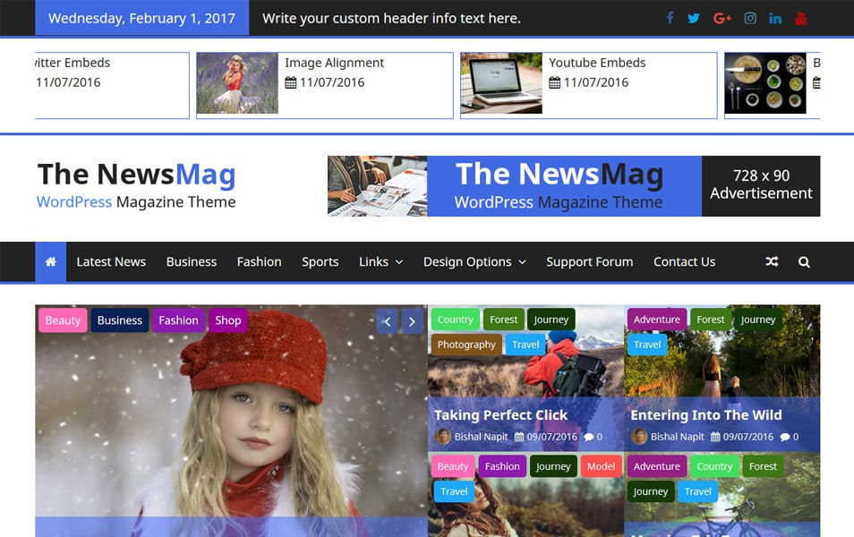 The NewsMag Responsive WordPress Theme