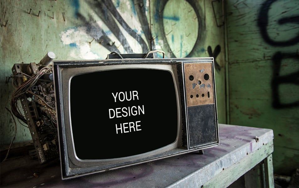 Vintage-TV Mockup