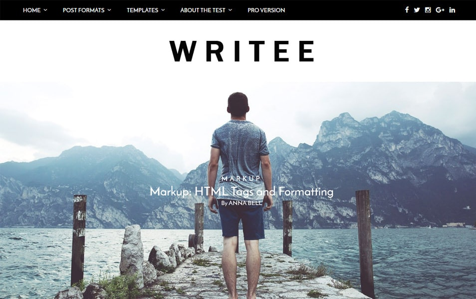 Writee Responsive WordPress Theme