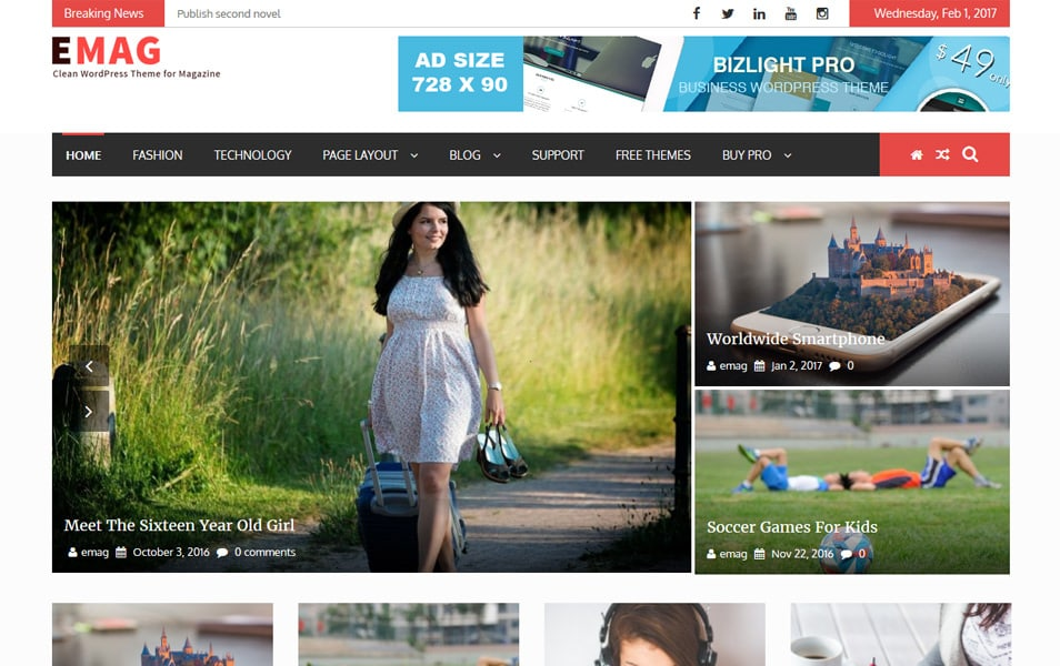 eMag Responsive WordPress Theme