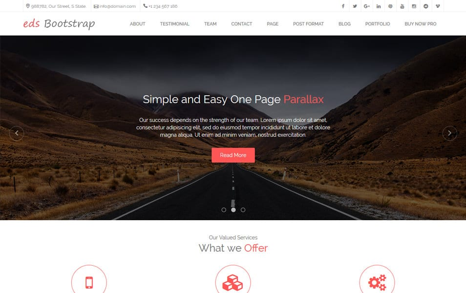 edsBootstrap Responsive WordPress Theme