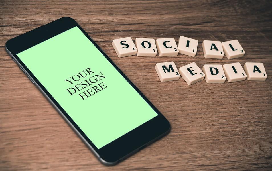 iPhone 6s Social Media Mockup
