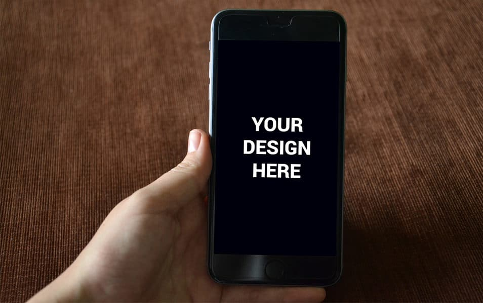 iphone 6 on hand Mockup