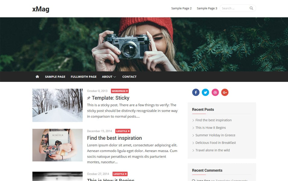xMag Responsive WordPress Theme