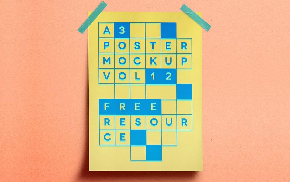 A3 Psd Poster Mockup Vol12