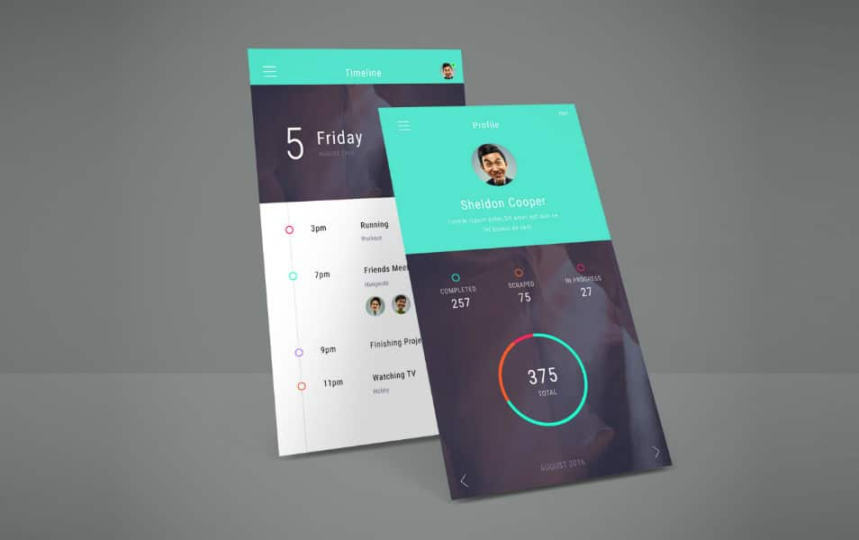 App Screen Showcase Mockup Vol.4