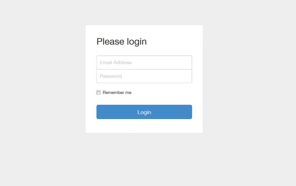 Bootstrap Snippet: Login Form